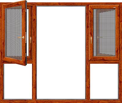 120窗纱一体断桥平开窗
